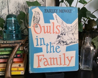 Owls in the Family - Farley Mowat - 1961 Vintage Hardcover Children's Book - Dust Jacket