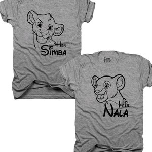 2-Pack, couples, his and hers, Her Simba, his Nala, Mr and Mrs, bundle, gift set, lion king, couples shirts, his and her gifts, (B031)