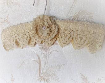 Wedding Hanger, Bridal Hanger, Satin Hanger, Bridal Gown Hanger, Shabby Chic Hanger. Maid of Honor Hanger, Lingerie Hanger, Dress Hanger