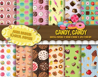 Candy, candy Digital Paper