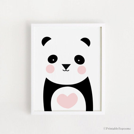Poster Bebe INSTANT DOWNLOAD Cute Panda Graphic Printable Art