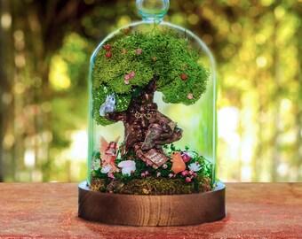 Fairy Garden Kit with Glass Dome - Miniature Garden - Fairy Terrarium - Mini Doll House - DIY Fairy Garden - Fairy Party - Pixie Garden