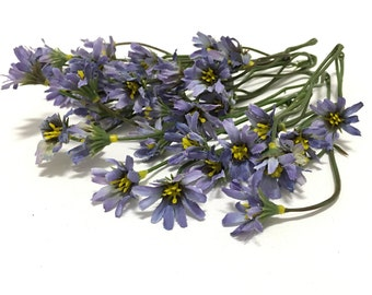 One Lot DUSTY PURPLE Wild Daisy Stems - Flower Crown, Halo, Wildflowers, Artificial Flowers, Silk Flowers, Wedding Flowers, Hair Accessory