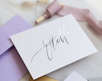 Luxury FOIL Table Name cards - Modern Calligraphy style