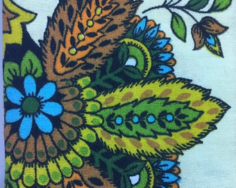 Vintage Upholstery Fabric 4 Yards - 24 Wide