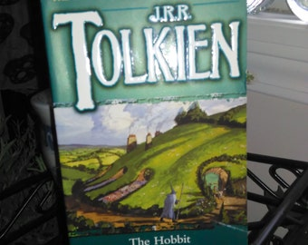 The Hobbit by J.R.R. Tolkien Vintage Paperback Lord of the Rings Fantasy Novel Free Shipping