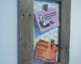 """Frame """"reminder"""" upcycled wooden"""
