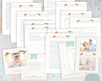 Photography Contract & Business Form Templates- NG022 - INSTANT DOWNLOAD