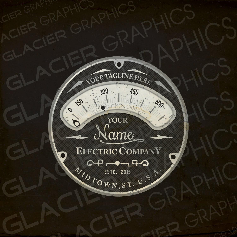 Custom Electrician Logo Electrical Lighting Sound