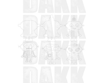 Robots SVG and PNG Files