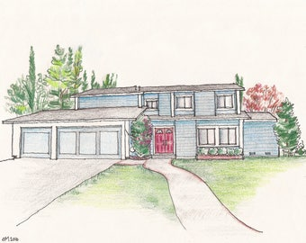 Custom Sketch - Home Illustration