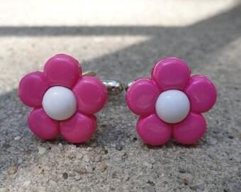 Purple and White Flower Cufflinks