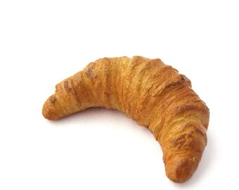 Dollhouse Miniatures 1/5 scale French croissant polymer clay food for toy bakery products puff pastry dessert