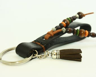Leather Keyring, Leather Keychain, Leather Key Fob, Leather Key Ring, Key Chain, Leather Key Holder, Key Organizer, Handmade