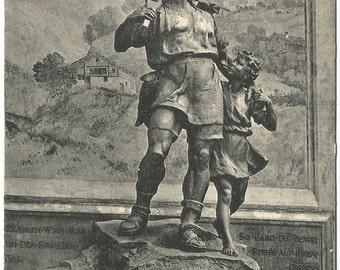 Wilhelm Tell - Altdorf, Telldenkmal, Vintage 1920's Unused Postcard, Switzerland