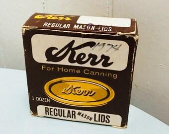 Vintage 1970s Kerr Canning Mason Jar Lids (1 Dozen)- 2 sets available