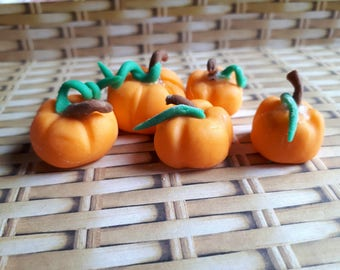 Cute Edible 5 Size Pumpkin Cake Toppers Collection