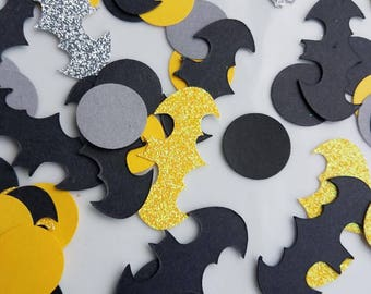 Batman Inspired Confetti, Batman Birthday Party, Batman Party