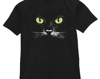 Mens T-shirt / Green Eyed Cat