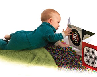 Eye Games for Baby - the award winning accordion-fold book. Rated #1 Parenting Aid for Baby Eye Development