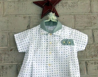 Vintage White and Green Baby Shirt