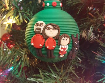 Custom Family ornament or We're expecting ornament