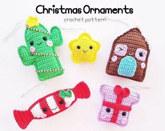 Christmas Ornaments PDF Pattern, crochet, amigurumi