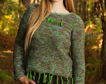 Natural warm sweater for women
