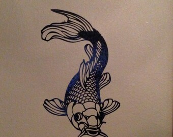 Coi Fish Decal / Sticker - Wall Art, Car, Window, Laptop Vinyl Decals