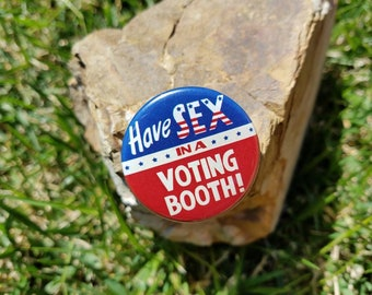 I Love to Vote Pin