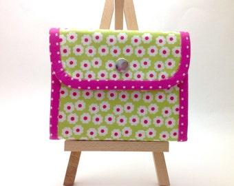 Accordion Wallet. Women's Fabric Wallet. Green Ladies Wallet. Bifold Wallet. Fabric Cardholder. Small Fabric Organizer. Pocket Wallet.