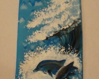 Silk tie SILK TIE with dolphins