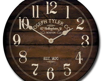 Chestnut Brown Wall Clock