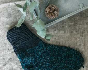 Gorgeous Hand Knitted Socks 100 % Recycled Wool