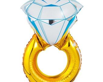 wedding band engagement solitaire diamond wedding ring balloon