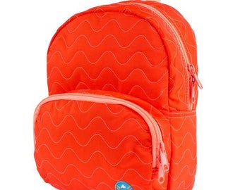 Red/Orange Quilted Purse Backpack