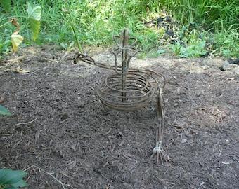 "Twisted rebar steampunk sculpture ""Earl"""