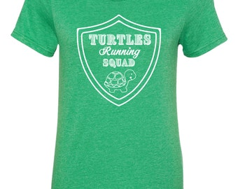 Turtles Running Squad T-Shirt, Funny Running Shirts, Work Out Gifts, Marathon Running Gifts, Track and Field, Fitness Apparel, Funny TShirts