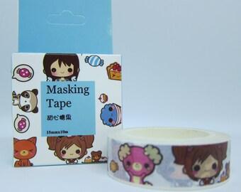 Kawaii Girls Washi Tape