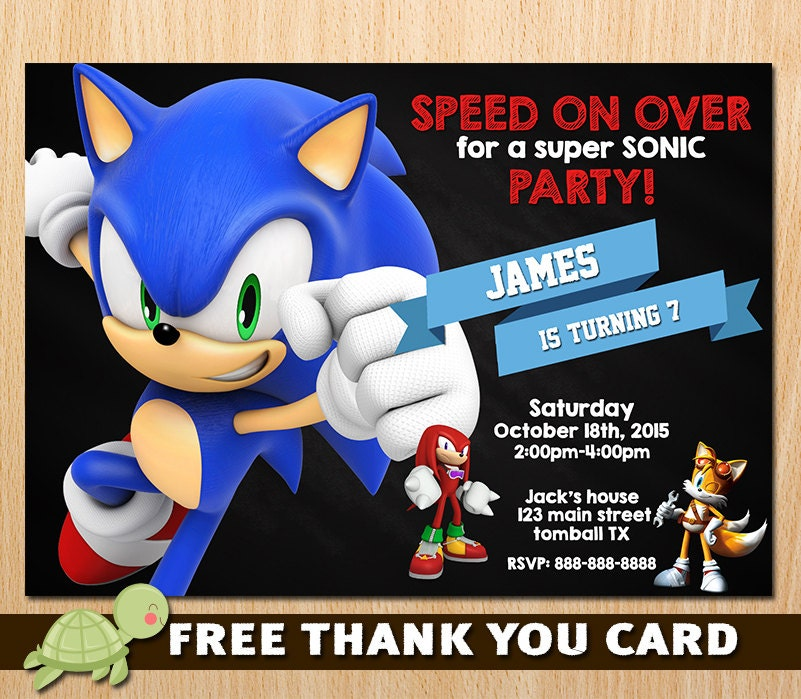 Sonic Invitation Sonic The Hedgehog Invites Sega Sonic