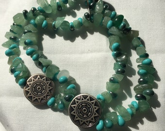 Turquoise, Adventurous Beaded Bracelet
