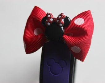 Red Minnie Mouse Inspired Magic Band Bow