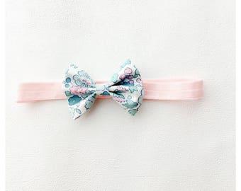 Liberty Betsy mint bow headband