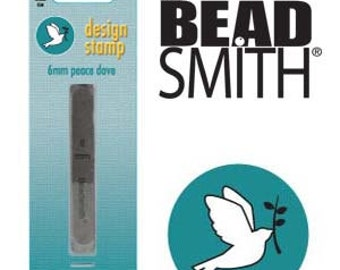 Peace Dove Metal Design Stamp 6 mm Steel Punch Beadsmith Noahs Ark Dove with Branch Metal Stamp, Steel Stamp