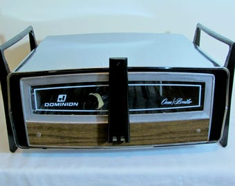 Vintage Dominion Countertop Roaster Toaster Broiler Oven Working Chrome Unusual Flip Model 2530.6