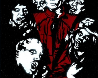 8.5x11 Thriller (Michael Jackson) Stencil Art Print