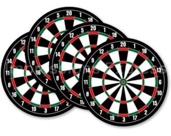 Darts Dartboard Coasters - Set of 4