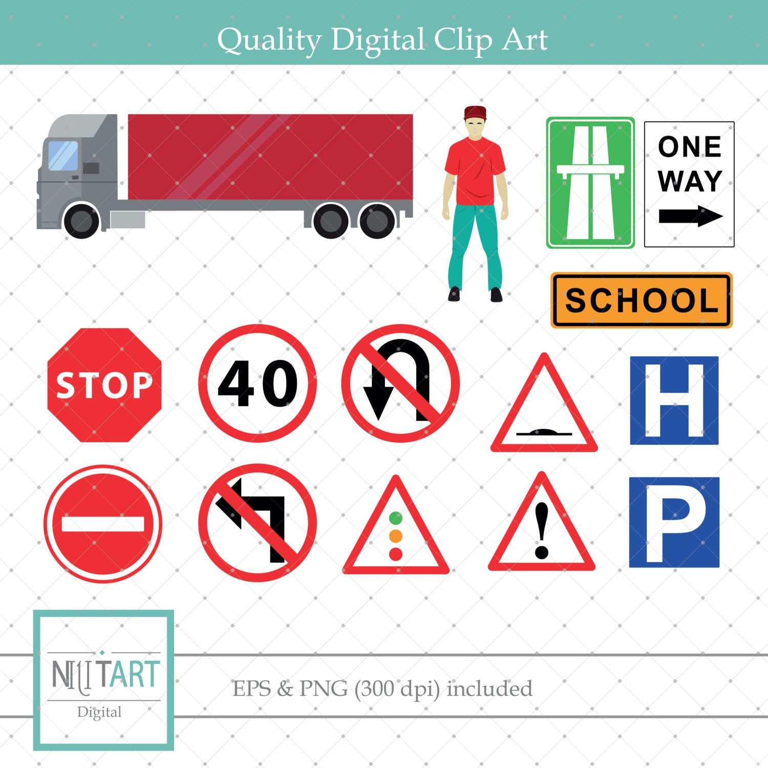 Traffic signs clip art road signs clipart vector graphics this is a digital file buycottarizona Image collections