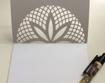 Thank you cards, blank cards, silver griffon designs,lotus flower,stationary, hostess gift,teacher gift,stocking stuffers