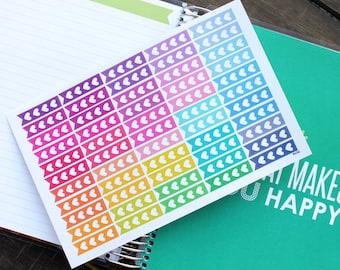 Flag Header Planner Stickers Erin Condren Life Planner (Eclp) - 55 Flag Heart Checklist To Do Stickers (#7016)
